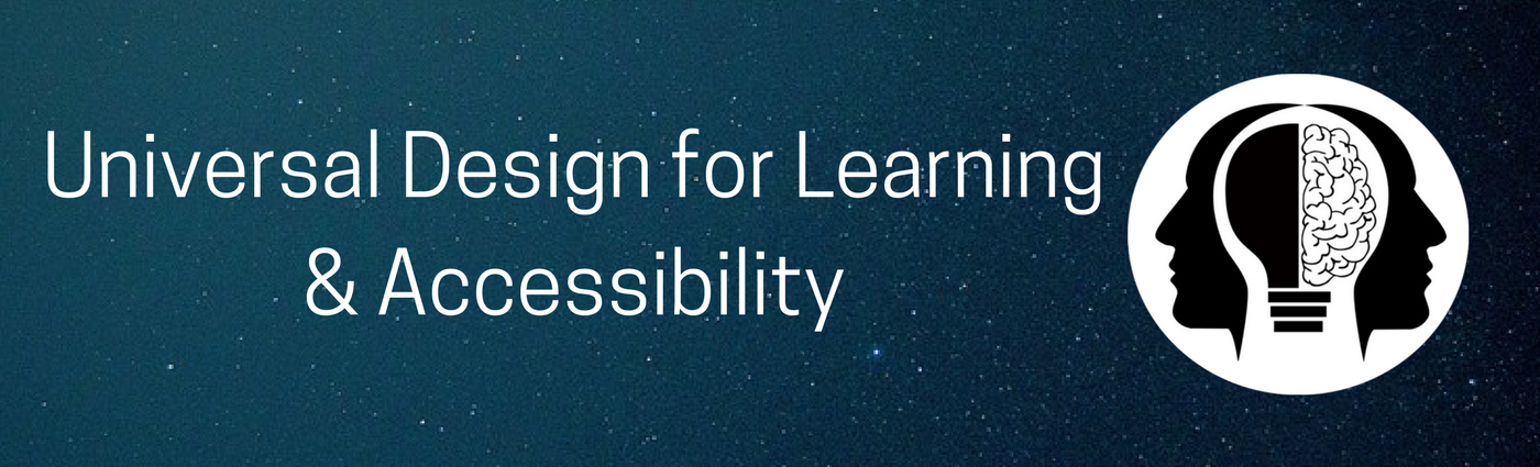 banner universal design for learning accessibility