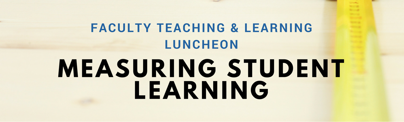 Banner reads Measuring Student Learning